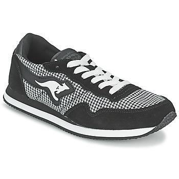 Shoes Women Low top trainers Kangaroos INVADER TWEED Grey / Black