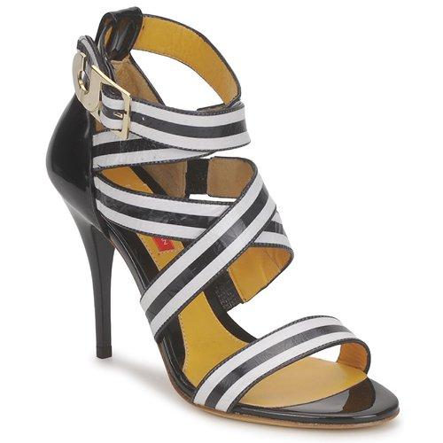 Shoes Women Sandals Charles Jourdan BARBARA Black / White