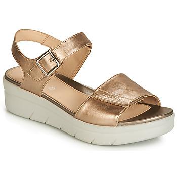 Shoes Women Sandals Stonefly AQUA III 2 LAMINATED Gold