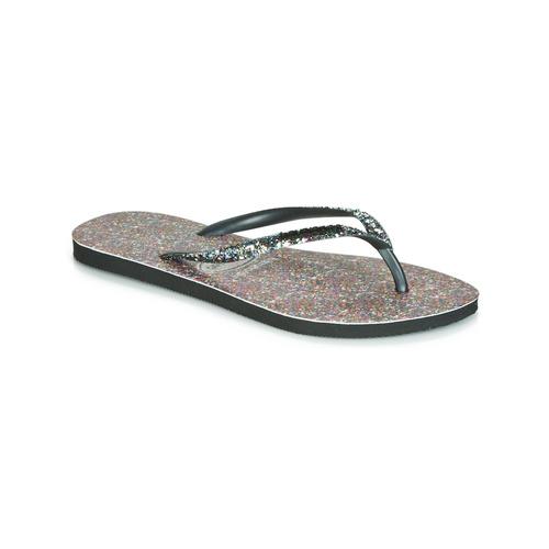 Shoes Women Flip flops Havaianas SLIM CARNAVAL Black
