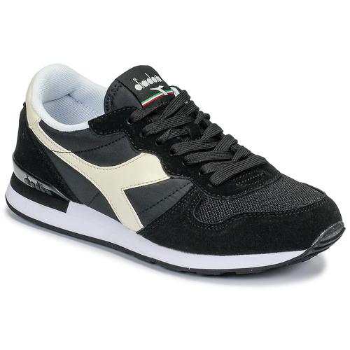 Shoes Low top trainers Diadora CAMARO Black / White