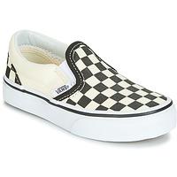 Shoes Children Slip-ons Vans CLASSIC SLIP-ON Black / White
