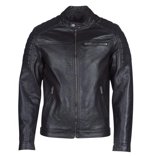 Clothing Men Leather jackets / Imitation leather Jack & Jones JCOROCKY Black
