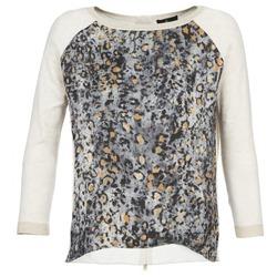Clothing Women jumpers One Step TWIST ECRU / Grey