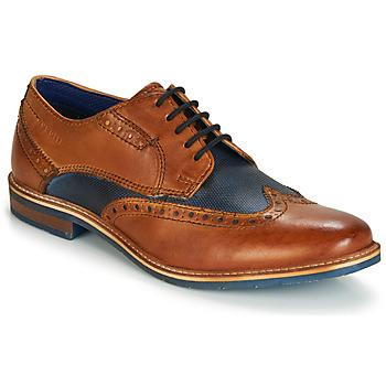 Shoes Men Derby Shoes Bugatti TROISCINQ Cognac / Blue