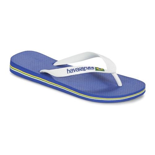 Shoes Flip flops Havaianas BRASIL LOGO White / Marine