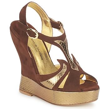 Shoes Women Sandals Terry de Havilland FARAH Chocolate