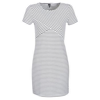 Clothing Women Short Dresses Vero Moda VMVIGGA White / Black