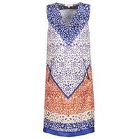 Clothing Women Short Dresses Derhy FORTERESSE White / Blue / Orange