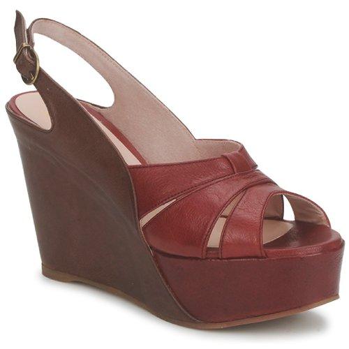 Shoes Women Sandals Paco Gil RITMO SELV Camel / Bordeaux