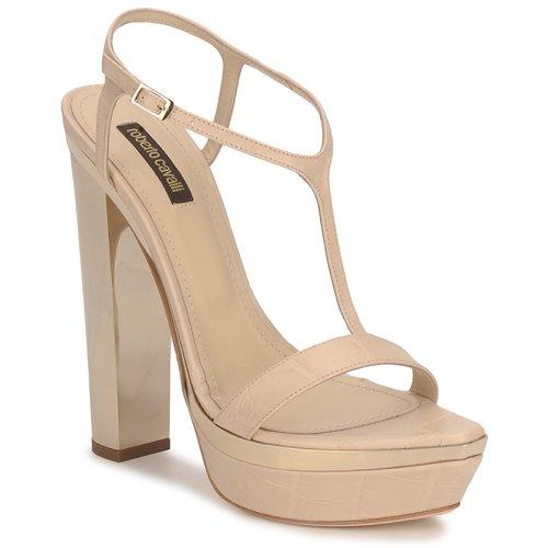 Shoes Women Sandals Roberto Cavalli RDS735 Beige / Nude