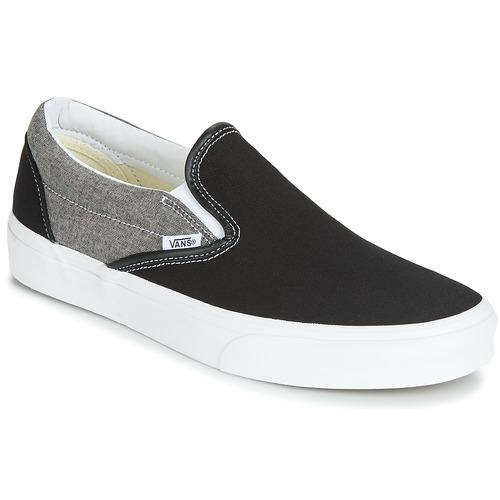 Shoes Men Slip-ons Vans Classic Slip-On  black / Grey