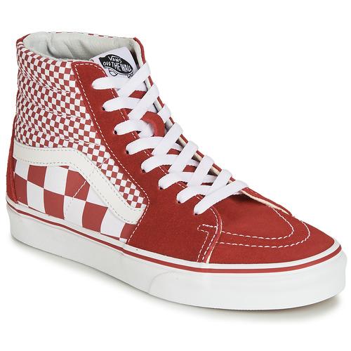 Shoes Hi top trainers Vans SK8-Hi Red / White