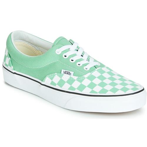 Shoes Women Low top trainers Vans Era Green / White