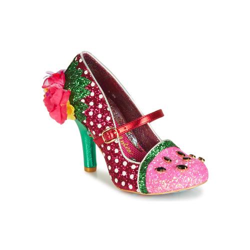Shoes Women Heels Irregular Choice CRIMSON SWEET Pink / Green