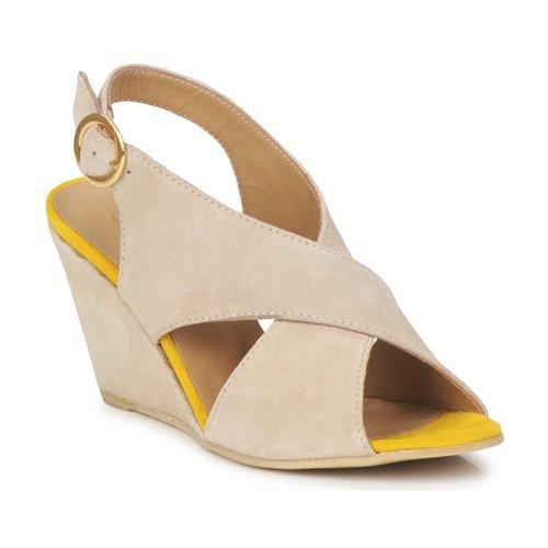 Shoes Women Sandals Pieces OTTINE SHOP SANDAL Taupe