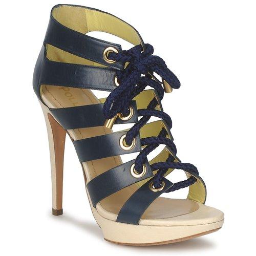 Shoes Women Sandals Pollini PA1609CC1V Blue