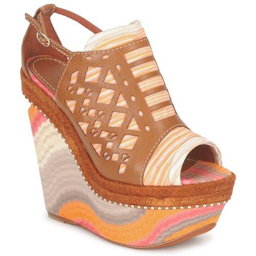 Shoes Women Sandals Missoni TM22 Brown / Orange