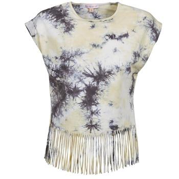 Clothing Women short-sleeved t-shirts Moony Mood CACILIA Grey / Yellow