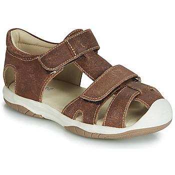 Shoes Boy Sandals André CHALOUPE Brown