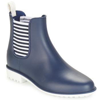 Shoes Women Wellington boots André SKIPPER Blue