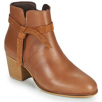 Shoes Women Ankle boots André ROMANE Beige