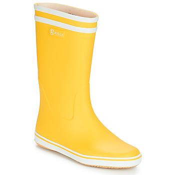 Shoes Women Wellington boots Aigle MALOUINE BT Yellow