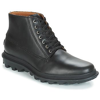 Shoes Men Mid boots Sorel ACE CHUKKA WATERPROOF Black