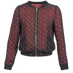 Clothing Women Jackets / Blazers Moony Mood CAT Black / Red