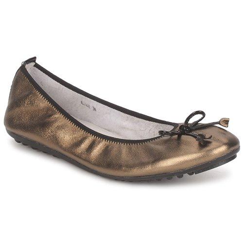 Shoes Women Flat shoes Mac Douglas ELIANE Bronze / Black / Patent