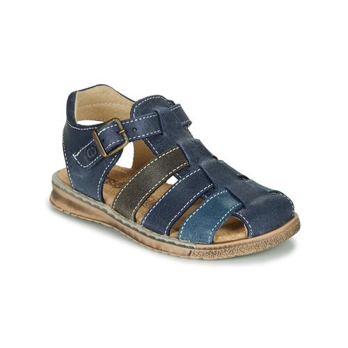 Shoes Boy Sandals Citrouille et Compagnie ZIDOU Marine / Grey