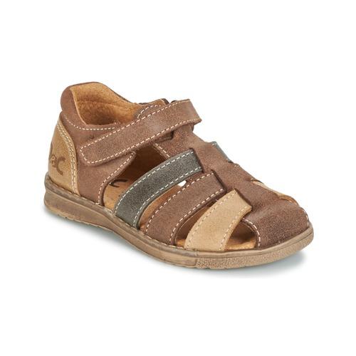 Shoes Boy Sandals Citrouille et Compagnie FRINOUI Brown