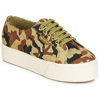 Shoes Women Low top trainers Superga 2790 LEAHORSE Camo