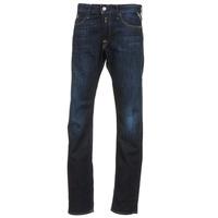 Clothing Men straight jeans Replay WAITON Blue / Dark
