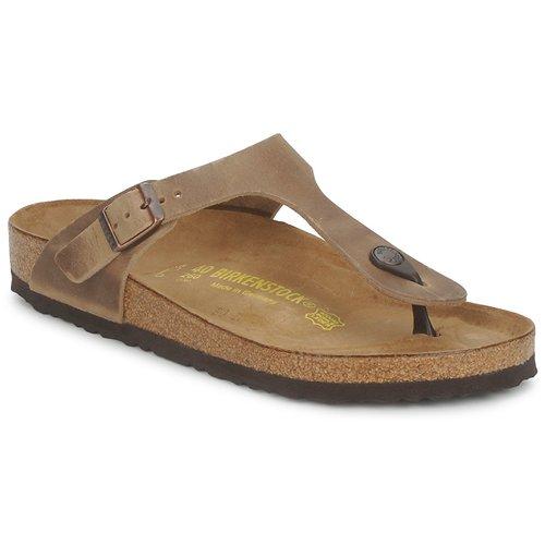 Shoes Women Flip flops Birkenstock GIZEH Brown