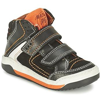 Shoes Boy Hi top trainers Primigi MOTT Black / Orange
