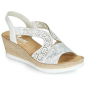 Shoes Women Sandals Rieker PASCALINE White