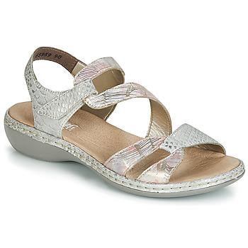 Shoes Women Sandals Rieker AMAZU Silver