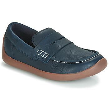 Shoes Children Loafers Clarks ArtistStride K Marine