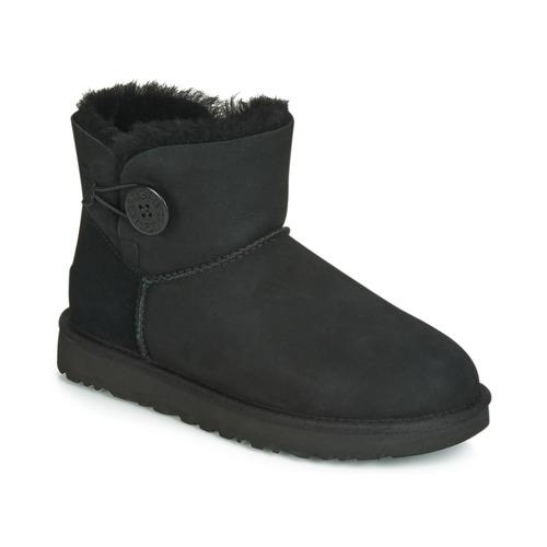 Shoes Women Mid boots UGG Australia MINI BAILEY BUTTON II Black