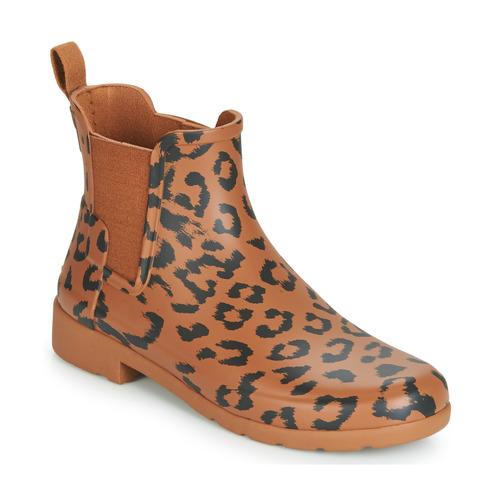 Shoes Women Wellington boots Hunter ORG REFINED CHELSEA HYBRD PRNT Leopard