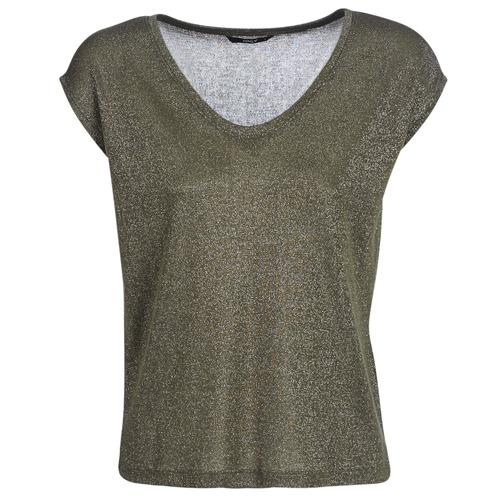 Clothing Women short-sleeved t-shirts Only ONLSILVERY Kaki