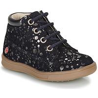 Shoes Girl Mid boots GBB NINON Marine / Silver
