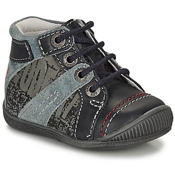 Shoes Boy Mid boots GBB NOLAN Grey / Blue