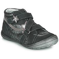 Shoes Girl Mid boots GBB NINA Black / Silver