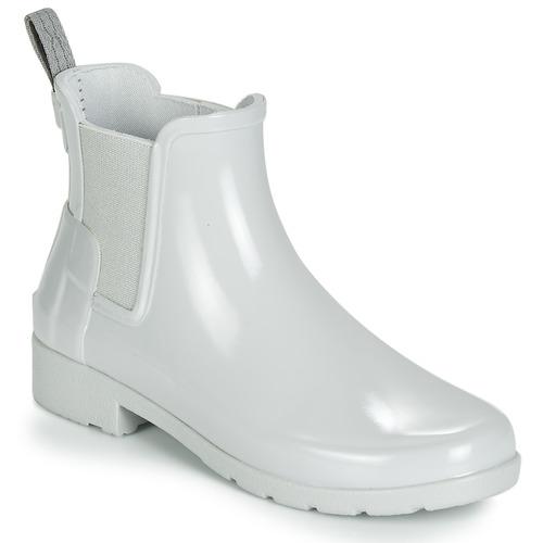 Shoes Women Wellington boots Hunter ORIGINAL KIDS Grey