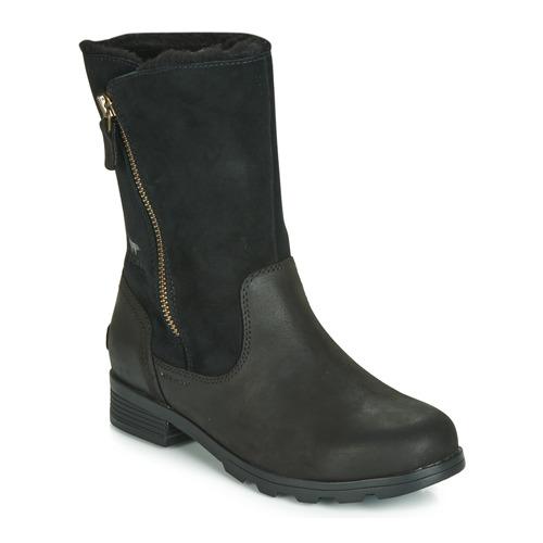 Shoes Women Mid boots Sorel EMELIE FOLDOVER Black