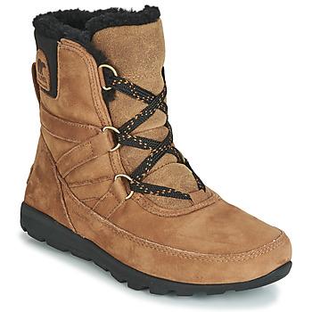 Shoes Women Mid boots Sorel WHITNEY SHORT LACE PREMIUM Camel