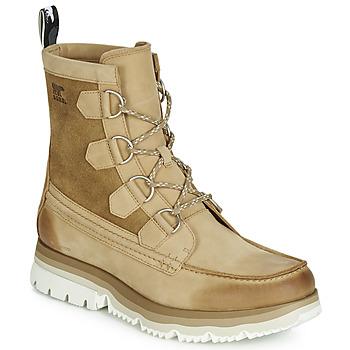 Shoes Men Mid boots Sorel ATLIS CARIBOU WATERPROOF Camel