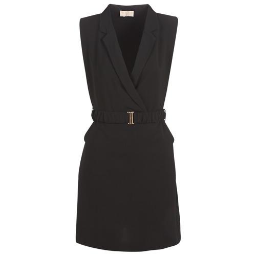 Clothing Women Tops / Sleeveless T-shirts Moony Mood KOAL Black